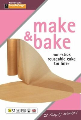 Make & Bake Non-Stick Reusable Round Cake Tin Liner Sheet Circle 7  8  9  • 2.99£