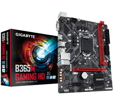 AU244.90 • Buy Gigabyte B365M Gaming HD LGA1151 9Gen MATX Motherboard Hybrid Digital PWM Design