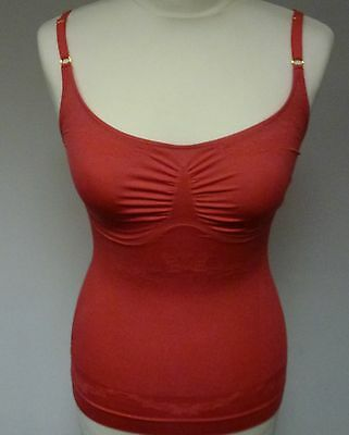 Your Secret Medium Control Cami With Thin Straps & Butterfly Design In Coral  • 6.99£