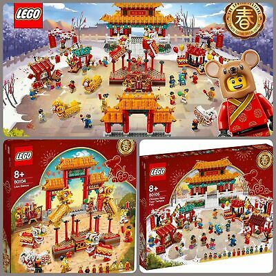 $268.50 • Buy Brand New Combo Set LEGO 80104 Lion Dance 80105 Temple Festival Chinese New Year