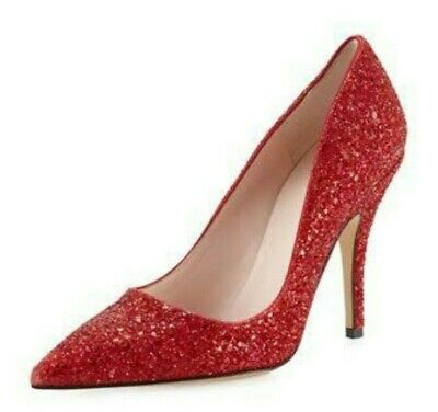 AU25 • Buy BNIB Kate Spade Authentic Licorice Red Glitter Pumps In Size US7