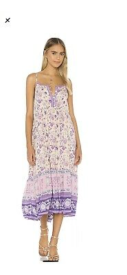 AU162.50 • Buy Revolve X LAVENDER Spell Portobello Strappy Midi Dress Medium M SOLD OUT! BNWT