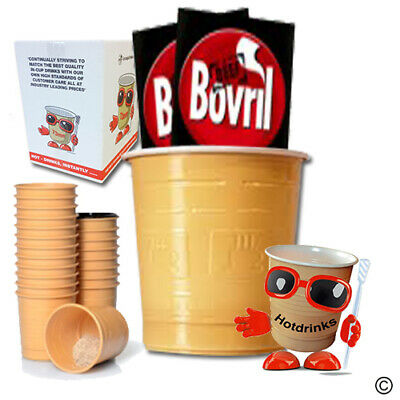£33.60 • Buy Box Of 300 (12 X 25 Cups) Bovril, In Cup, Incup Drinks For 73mm Vending Machines