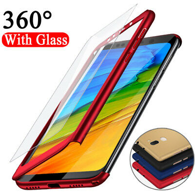 $0.99 • Buy 360° Full Cover Case + Tempered Glass For Xiaomi Redmi 6A 7A  Note 4 5 6 7 8 Pro