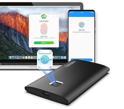 256GB 512GB 1TB S2 USB3.2 Portable SSD Hard Drive Fingerprint Security Touch • 119.49£