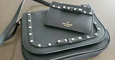 $ CDN60 • Buy Kate Spade Black & Rhinestone Purse With Matching Card Wallet.