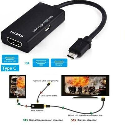 $ CDN4.36 • Buy Universal Mhl Micro Usb To Hdmi Cable 1080 P Hd Tv Phone For Android V7Y3