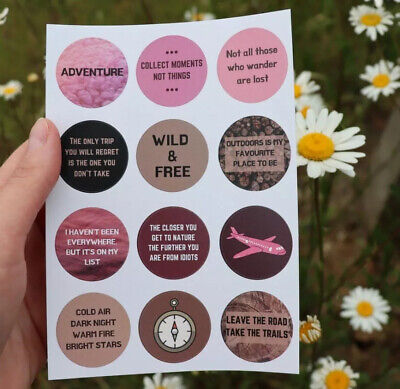 £4 • Buy Journal, Diary, Mood Board, Vision Board Stickers, Scrapbooking, Travel Journal