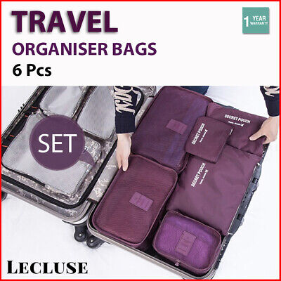 AU12.99 • Buy Travel Organiser Bags Set Clothes Storage Packing Cubes Pouches Luggage Suitcase