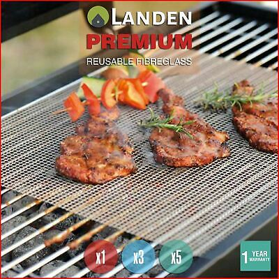 AU4.99 • Buy Landen BBQ Mesh Grill Mat Non-Stick Liner Cooking Barbecue Sheet Wire Baking Pad