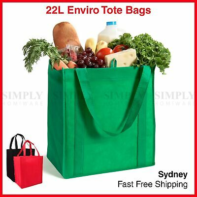 AU27.90 • Buy Bulk Enviro Reusable Shopping Bags Tote Bag Green Eco Friendly Non Woven Folding