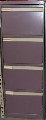 AU90 • Buy Filing Cabinet - Purple - 4 Drawer With Key - Second Hand - E11