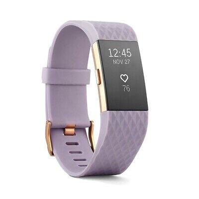 AU20.50 • Buy Fitbit Charge 2 Heart Rate Fitness Wristband Special Edition Lavender Rose Gold
