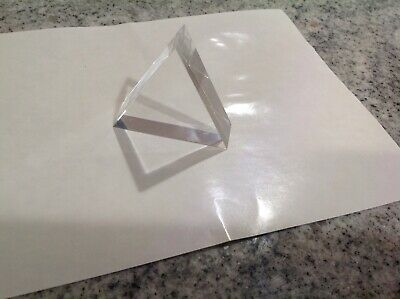 $7.99 • Buy 75x75x75mm Triangular Prism  Optical Prisms Acrylic 7-909-64 Teaching Refracted