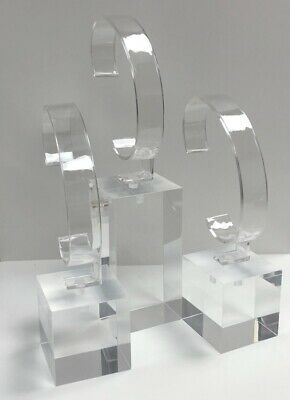£24.75 • Buy Set Of Three Acrylic Watch Stands