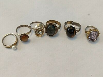 $ CDN10 • Buy Vintage Costume Rings Lot Of 6