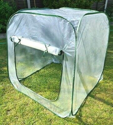 Pop Up Greenhouse PVC Outdoor Garden Tent Plant Grow House 100x100x100 • 23.99£