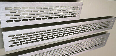 Air Vent Grille Built-in Appliances Ventilation Cover Brushed Steel Finish • 5.49£