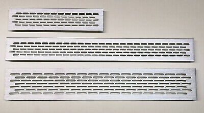 £3.49 • Buy Brushed Steel Air Vent Grille Built-in Appliances Aluminium Ventilation Cover