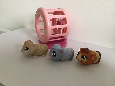 LITTLEST PET SHOP GUINEA PIGS WITH SPINNING WHEEL (lot 1) • 10£