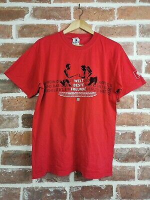 Vintage ADIDAS Graphic T-Shirt Top 2006 World Cup Football Germany Red | Large L • 10.99£