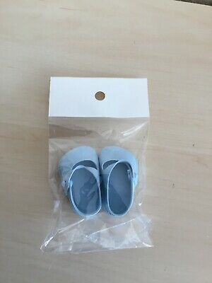 Blue Vintage Cinderella Dolls Shoes - Size 0 -  Will Fit Teeny Tiny Tears Doll • 6.50£