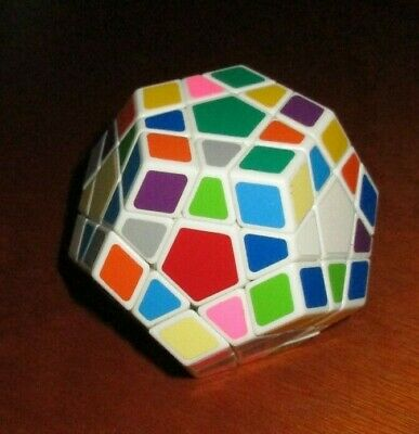 $5 • Buy 12 Sided Megaminx Speed Cube Magic Twist 3D Puzzle Brain Teaser White Base