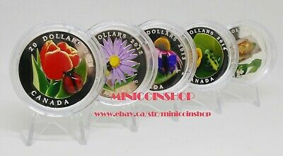 $1441.89 • Buy 2011 - 2015 Canada Venetian Glass Ladybug Bee Butterfly Frog Turtle Silver Coins