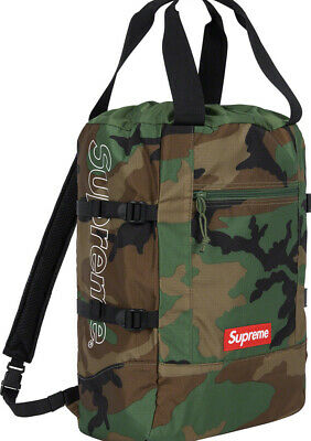$ CDN327.64 • Buy Supreme Tote Backpack Ss19 Week 9 Woodland Camo (in Hand) Authentic Fast Ship**