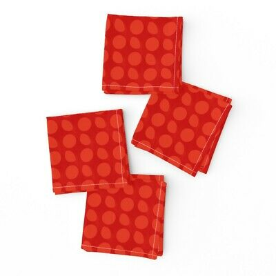Cocktail Napkins Red Pattern Christmas Set Of 4 • 26.38£