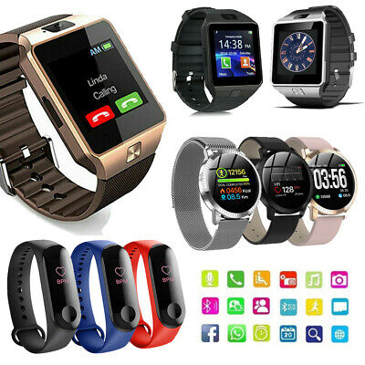 AU14.22 • Buy Smart Watch Wrist Band Support SIM Wristwatch For IPhone Android DZ09 GT08 NEW