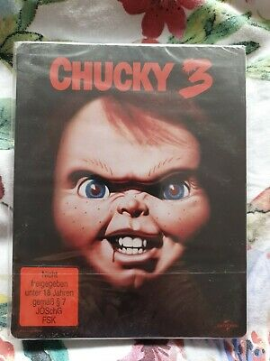 Chucky 3 - Child's Play 3  (1991) - Steelbook - Blu-ray - New & Sealed • 30£