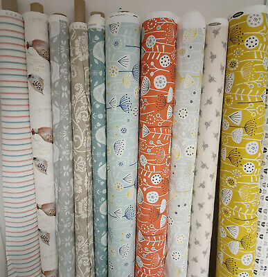 Designer Cotton Linen Fabric For Curtain Cushions Blinds Upholstery 140cm Wide • 12.99£