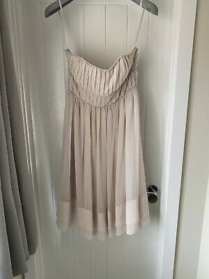 Mink/cream Strapless Prom, Bridesmaid, Cocktail, Midi Dress - Uk Size 12 - H&M • 17.99£