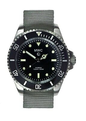 $ CDN298.19 • Buy MWC 300m Hybrid Stainless Steel Submariners/Divers With Sweep Seconds Hand