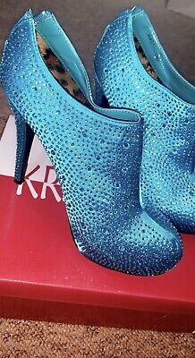 Blue JEWEL ENCRUSTED KRASCEVA SHOES SIZE UK 5 'WORN ONCE' Come With Box • 6£