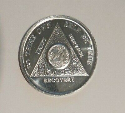 $2.30 • Buy Aa Aluminum 24 Hours Welcome Desire Sobriety Chip Coin Token Medallion