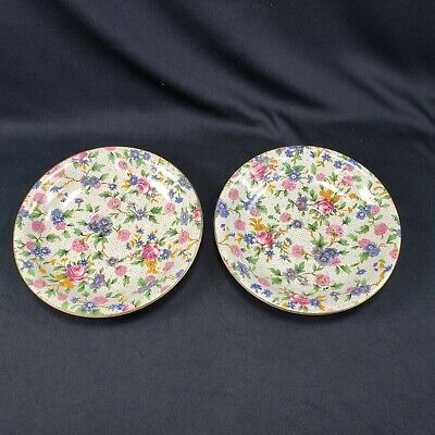 $ CDN28.73 • Buy Royal Winton Grimwades 2 Saucers Old Cottage Chintz Pattern Vintage