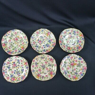 $ CDN46.23 • Buy Royal Winton Grimwades 6 Saucers Old Cottage Chintz Pattern Demitasse Vintage