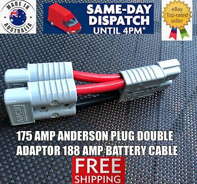 AU89.99 • Buy 175 Amp Y Adaptor Anderson Plug Connector Double 188 AMP 2 B&S Auto Tycab Cable