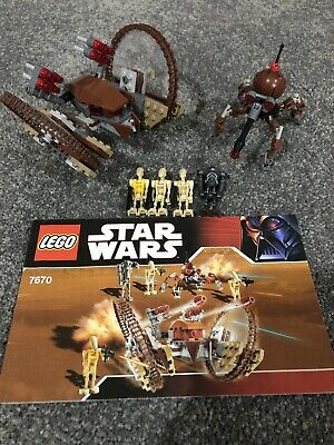 Lego Star Wars 7670 Hailfire Droid And Spider Droid 100% Complete With Manual! • 112.95£