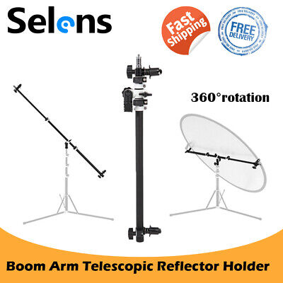 £27.80 • Buy Telescopic Reflector Holder Extendable Boom Arm 360 Rotate Portrait Photography