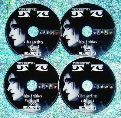 SIOUXSIE And The BANSHEES Video Archives Live Concerts 4 DVD Set Robert Smith • 13.58£