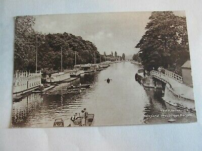 Postcard Of Oxford, The College Barges (TVAP Series) 1947 Posted • 1.49£
