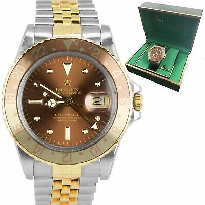 $ CDN13341.47 • Buy Vintage 1979 Rolex GMT-Master Root Beer Nipple Dial 40mm Two-Tone Watch 1675