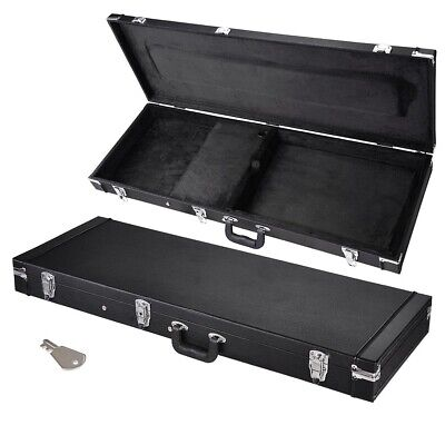 AU89.90 • Buy Wooden Universal Electric Guitar Hard Case Rectangular Shell Latches Lockable