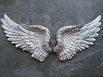 £11.75 • Buy One Pair Chic  Angel Wings  Medium Size  Wall  Hanging Art/head Board/project
