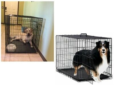 $94.99 • Buy Extra Large Cage For Big Dogs Outdoor XXl Crate Kennel Heavy Duty Metal Folding