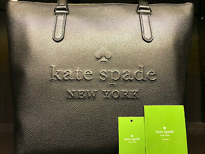 $ CDN179 • Buy BNWT Kate Spade Larchmont Ave Logo Penny Black Leather Tote Purse
