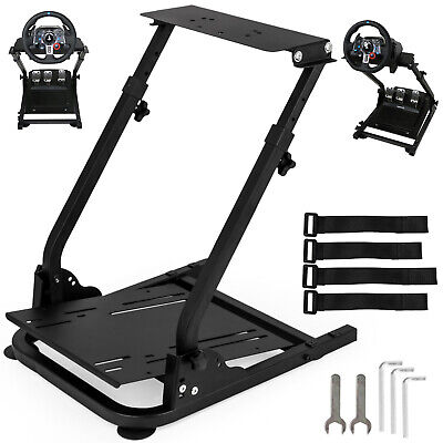Racing Simulator Steering Wheel Stand Thrustmaster T300RS Foldable Carbon Steel • 54.87£